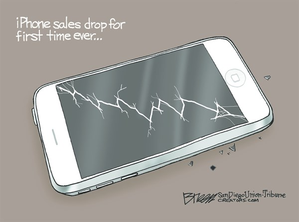 160501 Cartoon iPhone Sales Drop