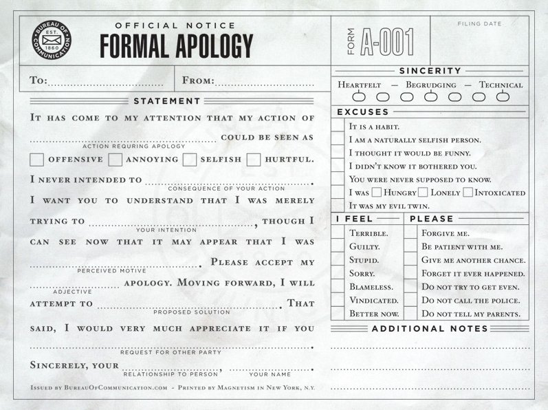 120305 Formal Apology