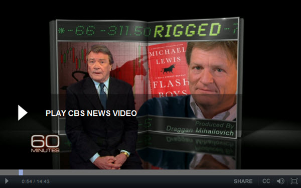 140405 Michael Lewis on 60 Minutes