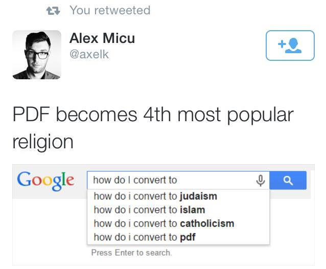 151205 PDF Becomes the 4th Most Popular Religioin