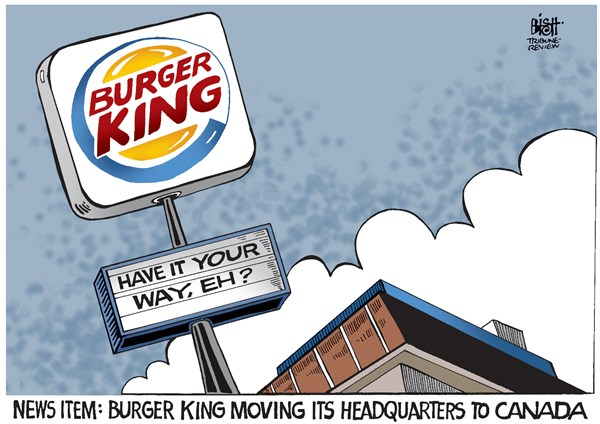 140830 Burger King Moving to Canada