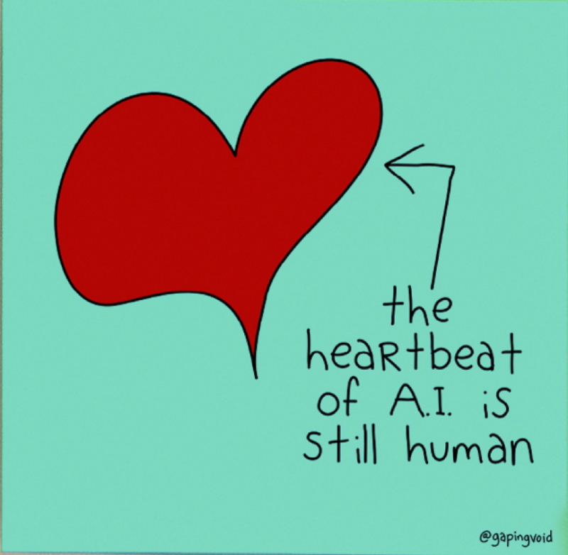 The Heartbeat of AI is Still Human_GapingVoid
