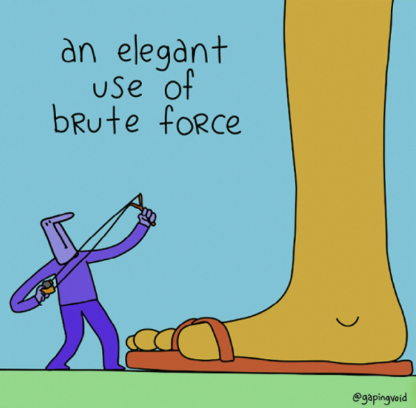 An Elegant Use Of Brute Force_GapingVoid