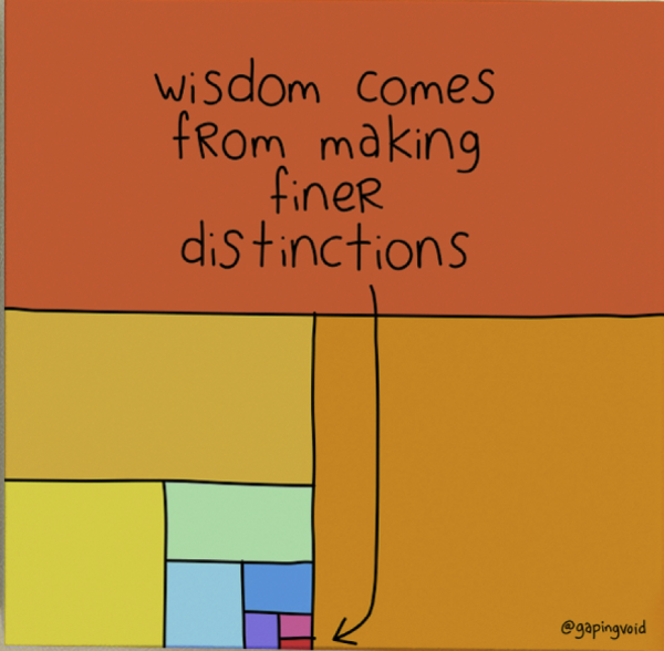 Wisdom Comes From Making Finer Distinctions_GapingVoid